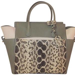 Reed Krakoff Soft Atlantique Exotic Milled Tote